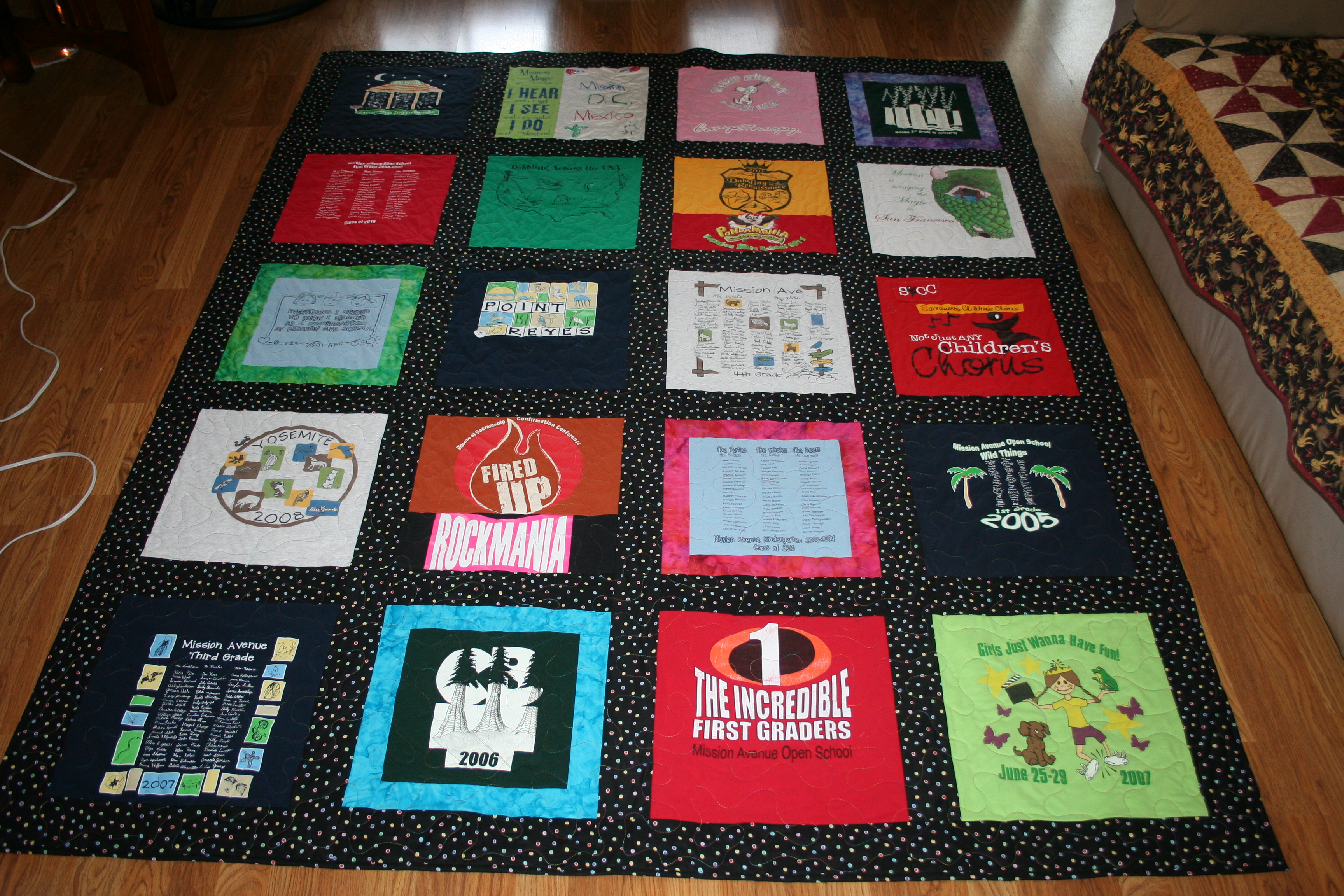 T Shirts Made Into Quiltsstom Double Sided Tshirt Quilt With Free