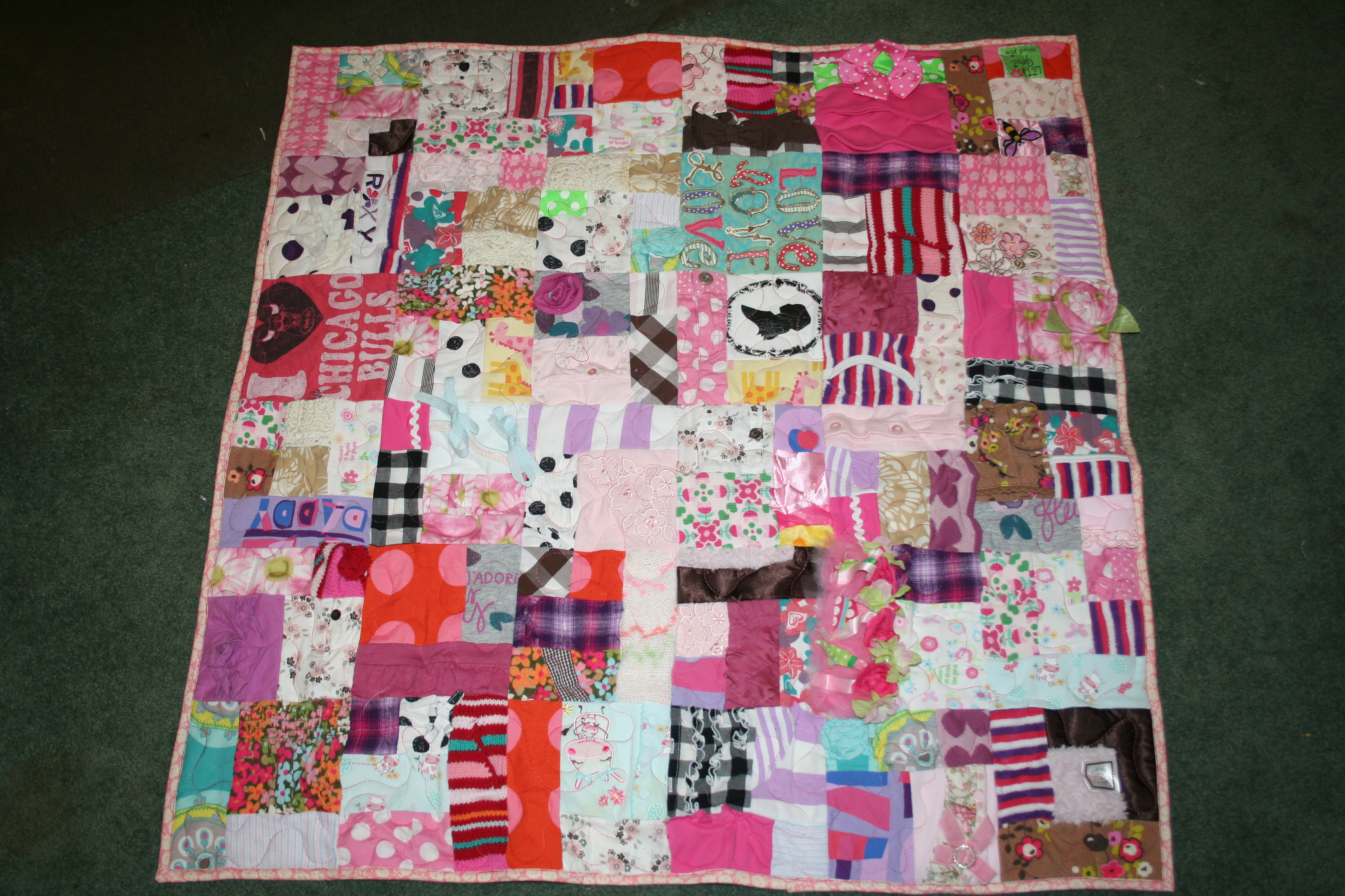 Memory Quilts – Quilt'm by Sunflower Designs : quilt made of baby clothes - Adamdwight.com