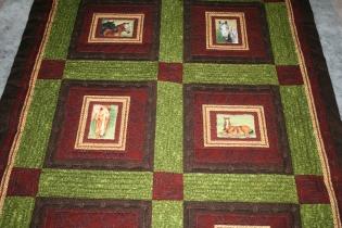 Custom Quilting - horse quilt