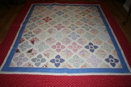 antique heart quilt