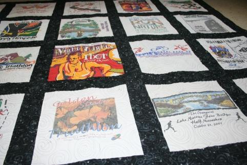 sacramento marathon t-shirt quilt