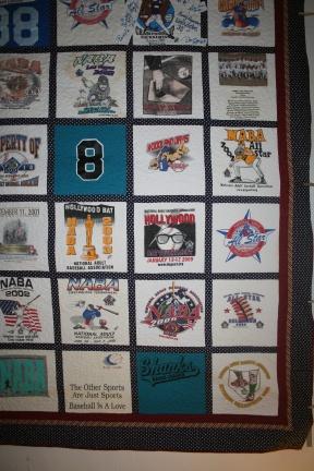 t-shirt quilt baseball