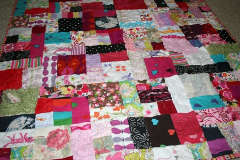 baby clothes memory quilt roseville