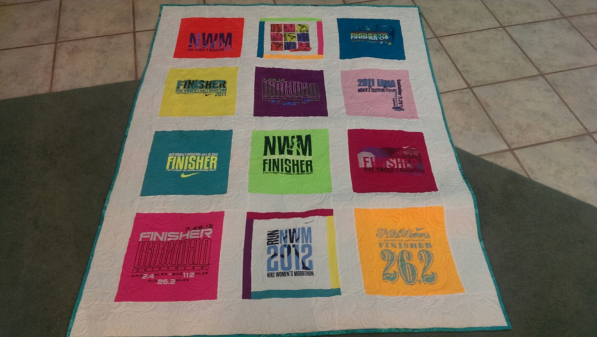 First T Shirt Quilt From Eppies Great Race Quilt M By
