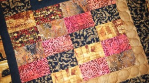 African custom long are quilting