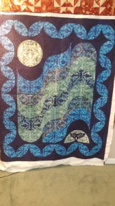 whales and waves quilting