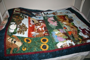 in the ditch custom quilting