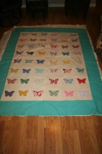 custom quilting butterflies