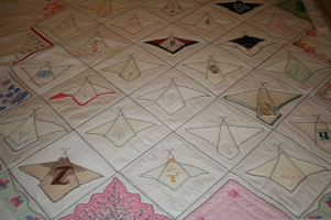 alphabet hankies custom quilting