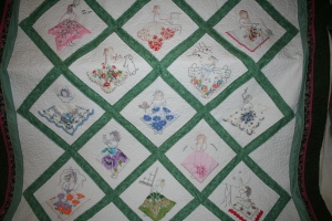 antique lady hankies quilt