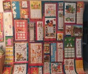 linen calendar quilt